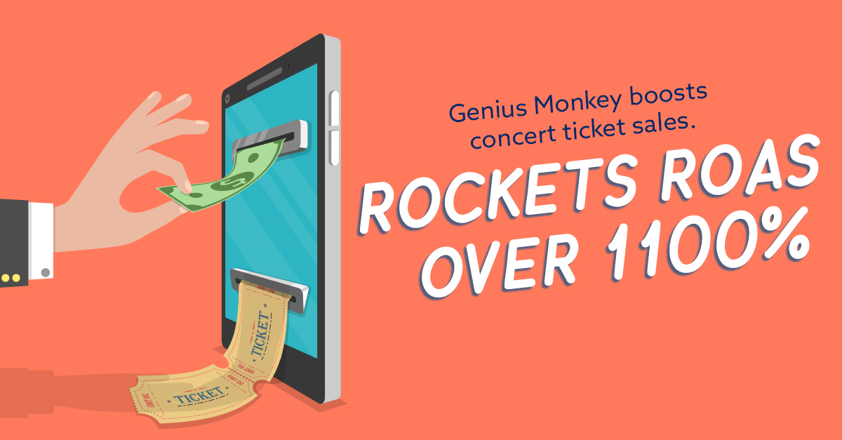 Genius Monkey Boosts Concert ROAS by Over 1,100%